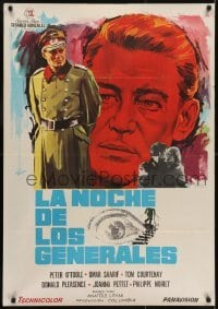 4y097 NIGHT OF THE GENERALS Spanish 1967 WWII officer Peter O'Toole in manhunt across Europe!