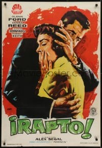 4y099 RANSOM Spanish 1956 completely different art of Glenn Ford & Donna Reed by Jano!