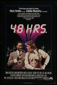 4z048 48 HRS. 1sh 1982 Nick Nolte is a cop who hates Eddie Murphy who is a convict!