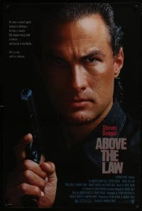 4z050 ABOVE THE LAW 1sh 1988 Sharon Stone, Pam Grier, great close-up image of Steven Seagal!