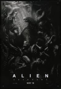 4z068 ALIEN COVENANT style C teaser DS 1sh 2017 Ridley Scott, Fassbender, incredible sci-fi image!