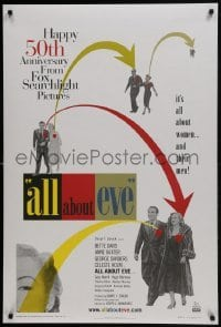 4z071 ALL ABOUT EVE DS 1sh R2000 Bette Davis & Anne Baxter, Monroe, image from original one sheet!