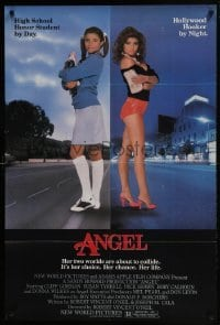 4z080 ANGEL 1sh 1983 high school honor student by day, Hollywood hooker at night!