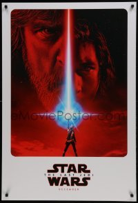 4z037 LAST JEDI teaser DS 1sh 2017 Star Wars, incredible sci-fi image of Hamill, Driver & Ridley!