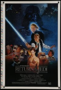 4z001 RETURN OF THE JEDI style B printer's test studio style 1sh 1983 George Lucas, Sano artwork!