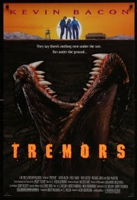 4z921 TREMORS DS 1sh 1990 Kevin Bacon, Fred Ward, great sci-fi horror image of monster worm!