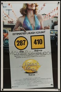 4z942 USED CARS 1sh 1980 Robert Zemeckis, sexy image, title art by Roger Huyssen and Gerard Huerta