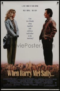 4z964 WHEN HARRY MET SALLY 1sh 1989 giant Billy Crystal & sexy Meg Ryan over New York City!
