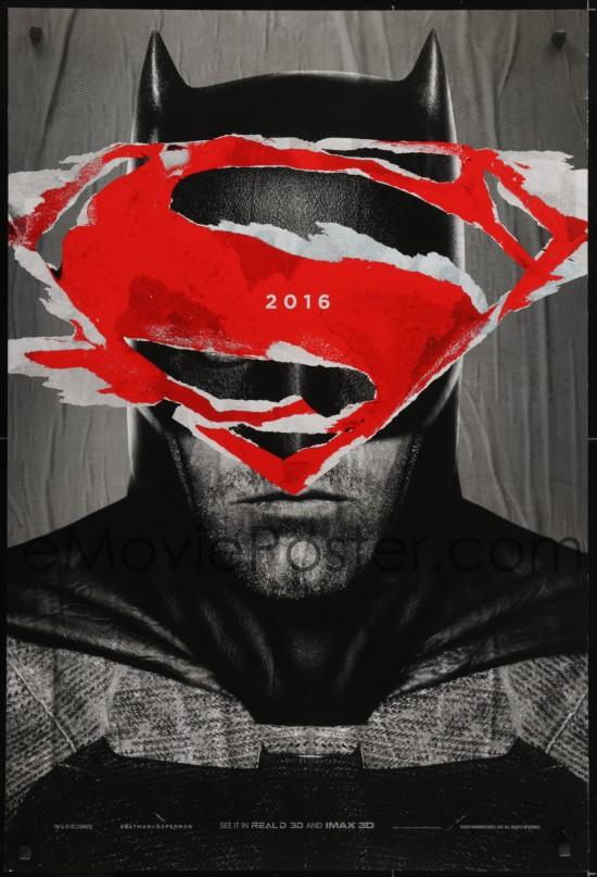 Emovieposter 4z125 Batman V Superman Teaser Ds 1sh 2016 Cool