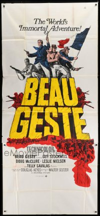 5a009 BEAU GESTE South African 3sh 1966 cool artwork, the world's immortal adventure!
