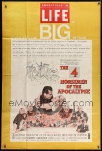 5a037 4 HORSEMEN OF THE APOCALYPSE 40x60 1961 incredible artwork by Reynold Brown!