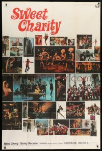 5a046 SWEET CHARITY 40x60 1969 Bob Fosse musical, Shirley MacLaine, great different photo montage!