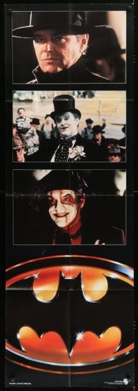 5a015 BATMAN door panel 1989 three images of Jack Nicholson as The Joker, directed by Tim Burton!