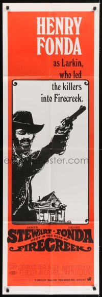 5a020 FIRECREEK set of 2 door panels 1968 different images of James Stewart & Henry Fonda!