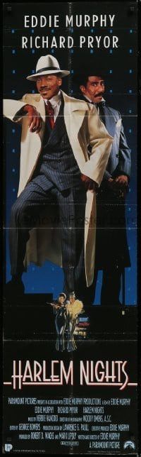 5a016 HARLEM NIGHTS door panel 1989 different full-length image of Eddie Murphy & Richard Pryor!