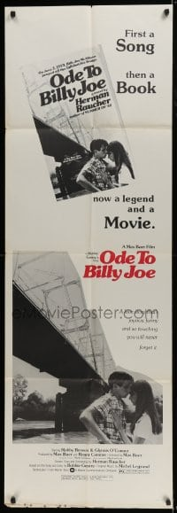 5a017 ODE TO BILLY JOE door panel 1976 first a song, then a book, now a legend and a movie!