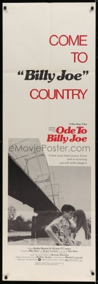 5a018 ODE TO BILLY JOE door panel 1976 Robby Benson, Glynnis O'Connor, come to Billy Joe country!