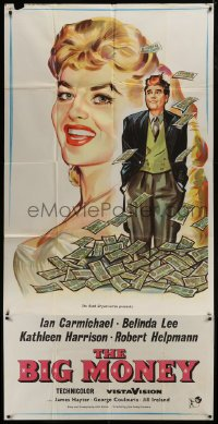 5a057 BIG MONEY English 3sh 1958 great art of Ian Carmichael & sexy Belinda Lee w/lots of cash!