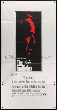 5a064 GODFATHER English 3sh 1972 art of Marlon Brando, Francis Ford Coppola & Mario Puzo classic!