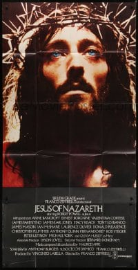 5a068 JESUS OF NAZARETH English 3sh 1977 Franco Zeffirelli, close up of Robert Powell as Christ!
