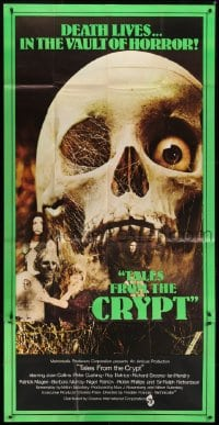 5a080 TALES FROM THE CRYPT English 3sh 1972 Peter Cushing, Joan Collins, E.C., huge skull, rare!