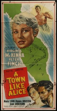 5a081 TOWN LIKE ALICE English 3sh 1956 Virginia McKenna, Peter Finch, from Nevil Shute book!