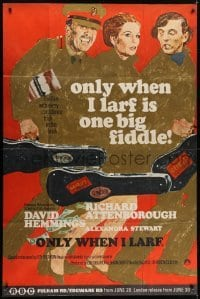 5a049 ONLY WHEN I LARF English 40x60 1968 Richard Attenborough, David Hemmings, Basil Dearden!
