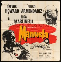 5a053 MANUELA English 6sh 1957 art of Trevor Howard, Pedro Armendariz & Elsa Martinelli!