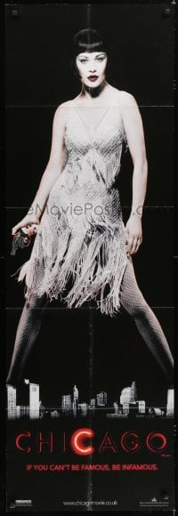 5a055 CHICAGO 2-sided English door panel 2002 Renee Zellweger as Roxie Hart & Catherine Zeta-Jones!