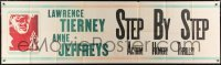 5a007 STEP BY STEP paper banner 1946 noir art of Lawrence Tierney with revolver, ultra rare!