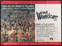 5a027 WARRIORS subway poster 1979 Walter Hill, Jarvis artwork of the armies of the night, rare!