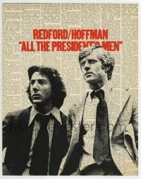 5b020 ALL THE PRESIDENT'S MEN color 11x14 TC 1976 Hoffman & Redford as Woodward & Bernstein!
