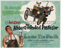 5b008 ABSENT-MINDED PROFESSOR TC R1967 Walt Disney, Flubber, Fred MacMurray in the title role!
