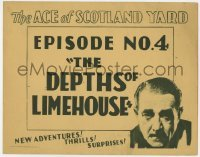 5b009 ACE OF SCOTLAND YARD chapter 4 TC 1929 detective Crauford Kent, Depths of Limehouse, rare!