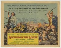 5b016 ALEXANDER THE GREAT TC 1956 art of Richard Burton & Frederic March as Philip of Macedonia!