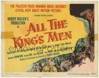 5b019 ALL THE KING'S MEN TC 1950 Louisiana Governor Huey Long biography with Broderick Crawford!