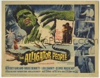 5b021 ALLIGATOR PEOPLE TC 1959 Beverly Garland, Lon Chaney Jr., they'll make your skin crawl!