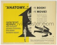 5b002 ANATOMY OF A MURDER style A TC 1959 Otto Preminger, James Stewart, Lee Remick, Saul Bass art!