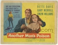 5b026 ANOTHER MAN'S POISON TC 1952 Bette Davis had everything she needed to torment Gary Merrill!