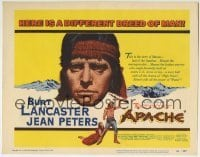 5b028 APACHE TC 1954 Native American Burt Lancaster & Jean Peters, directed by Robert Aldrich!