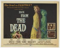 5b037 BACK FROM THE DEAD TC 1957 Peggie Castle lived to destroy, cool sexy horror art & image!