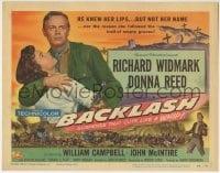 5b038 BACKLASH TC 1956 Richard Widmark knew Donna Reed's lips but not her name!