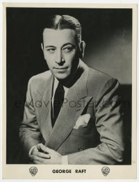5c001 GEORGE RAFT deluxe French 7x9.25 still 1937 wonderful head & shoulders close up wearing suit!