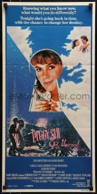 5c843 PEGGY SUE GOT MARRIED Aust daybill 1986 Francis Ford Coppola, Kathleen Turner re-lives her life!