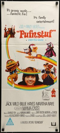 5c860 PUFNSTUF Aust daybill 1970 Sid & Marty Krofft musical, wacky images of characters!
