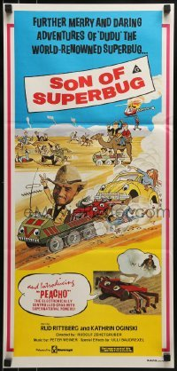 5c868 RETURN OF SUPERBUG Aust daybill 1980 Peacho, the electronic crab w/supernatural powers!