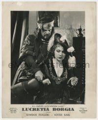 5c016 LUCREZIA BORGIA Cuban LC 1937 Abel Gance, Edwige Feuillere in the title role, distribution to Cuba!