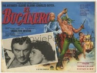 5c030 BUCCANEER Mexican LC 1958 Yul Brynner, Charlton Heston, directed by Anthony Quinn!