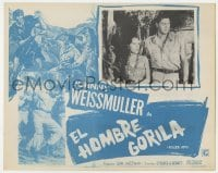 5c034 KILLER APE Mexican LC R1970s Weissmuller as Jungle Jim, drug-mad beasts ravage human prey!