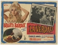 5c035 LA VERITE Mexican LC 1961 super sexy Brigitte Bardot, Henri-Georges Clouzot, The Truth!